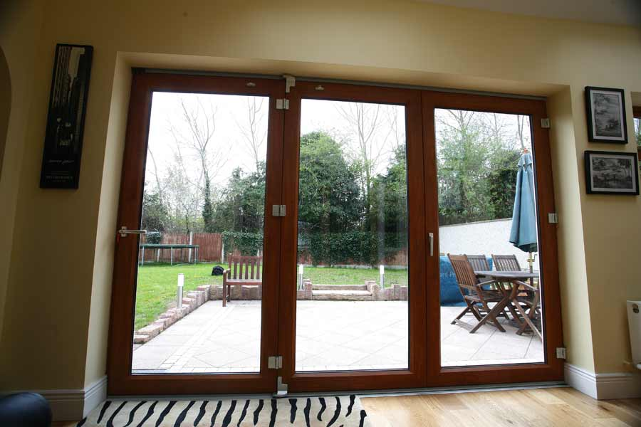 Foxbrook Phase 1 Bifold Doors - bring your garden into your house, Dual Colour   inside & Out